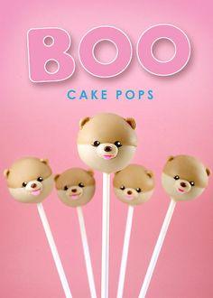 Boo the Dog Cake Pops #Bakerella #cakepop #dessert