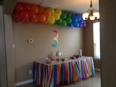The pin goes no where, but I love the balloon rainbow, would be perfect for a Lisa Frank party!