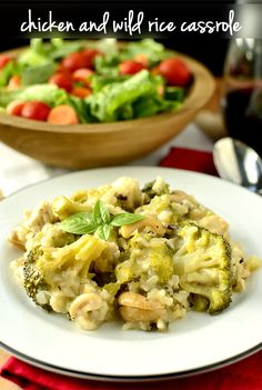 Chicken+and+Wild+Rice+Casserole+|+iowagirleats.com