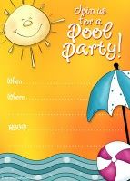 Free printable pool party invitation #poolparty