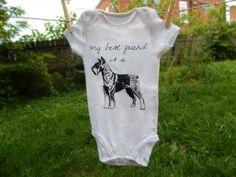 My Best Friend is a Schnauzer, Unique Baby Clothes, Custom Baby Gift, Dog Baby Clothes, Schnauzer Lover, Dog Baby Shower, Gender Neutral