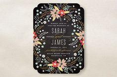 chalkboards, floral chalkboard, idea, chalkboard floral, weddings, wedding invitations, kristi kern, invit inspir, color scheme