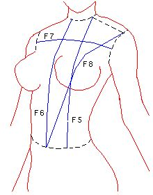 Bodice Block / Sloper Generator - enter your measurements into the website to generate numbers for you to draft from. From: http://trantanphat.com/tailoring/drafting/d_fr_bod_sloper.html