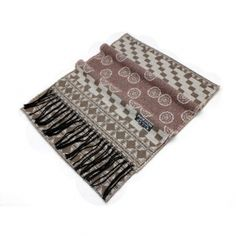 Buy fashion houndstooth flower print mens tassel cashmere pashmina scarf shawl red MES0018