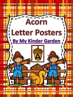 Here is an absolutely adorable set of acorn letter posters that can be used to improve letter recognition and help students to accomplish their common core reading goals. The set includes a full page poster for each uppercase letter, each lowercase letter, and a page with each uppercase letter along with the matching lowercase letter.