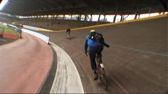 Racing around the Vigorelli Velodrome in Milan Italy.  This had not been done in years and we were kicked out after three laps