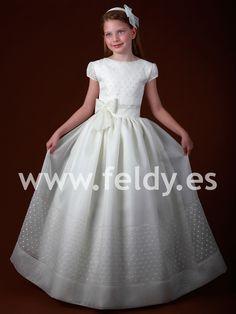 Vestido Comunión niña Cemaros 2012 N385 | Feldy S.A.