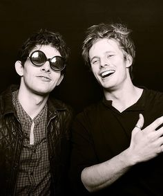 The handsome costars Colin Morgan and Bradley James - Imgur