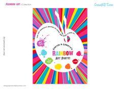 Rainbow Art Custom Printable Invitation 4 styles to choose from. Serendipity Soiree