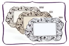 Wendelline Papers  Glided Frame Place cards