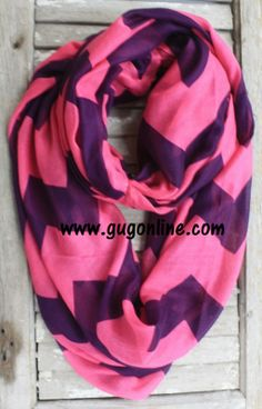 Pink and Purple Chevron Scarf