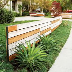 Fence made of salvaged planks