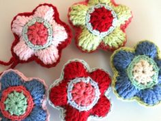 Crochet Flowers Ornamet - Tutorial  ❥ 4U // hf