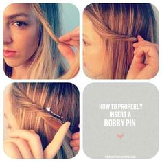 How to put ur hair up with out seeing the bobby pin