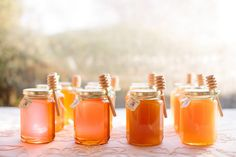 #honey #favors Photography by danieljphotography.com, Design and Planning by http://www.brillianteventplanning.com  Read more - http://www.stylemepretty.com/2013/08/20/private-estate-farm-wedding-from-brilliant-event-planning/