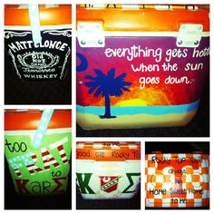 Fraternity painted cooler. #kappasigma
