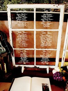 seating chart on old windows