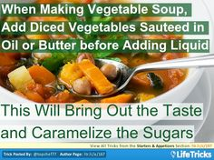 Starters & Appetizers - Trick to Bring Out the Taste in Vegetable Soup veget soup