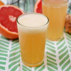 Grapefruit Honey Ginger Soda #recipe