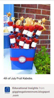 fruit kabobs.....for fondue