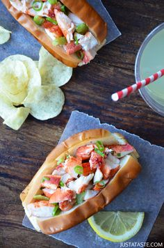 Lobster Rolls with Garlic Butter Buns Recipe