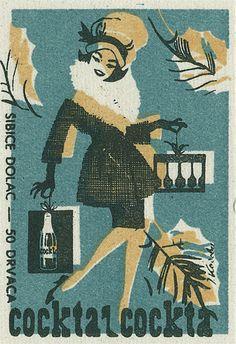 Yugoslavian matchbox label