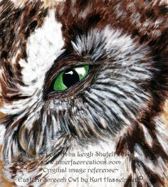Who are you © Art of Trisha Leigh Shufelt 2014 Photographic reference inspired by and used with permission from Kurt Hasselman's image Eastern Screech Owl © https://www.flickr.com/photos/dah_professor/6630703349/in/faves-124125795@N05/