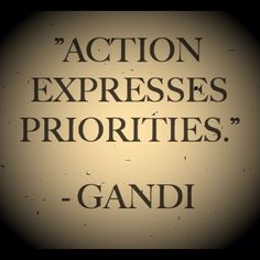 Action Expresses Priorities - Gandi