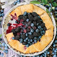 Double Berry-Almond Galette - Fresh Blackberry Dessert Recipes - Southern Living