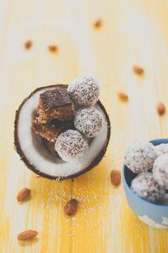 Almond, Coconut & Date Bites | KiranTarun.com