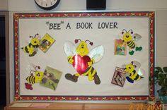 Valentine bulletin board librari bulletin, bulletin boards, valentin bulletin, bulletinboard, bee bulletin, teach idea, board idea