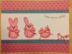 CTMH Chantilly 'Peeps' Easter card...totally scraplifted from scrapbookgirl.typepad.com