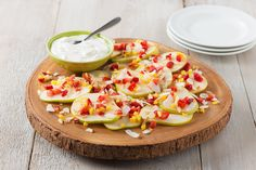 Easy Fruit Nachos recipe - A healthier way to do summer dessert.