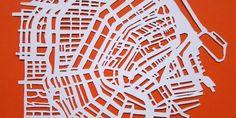 DIY paper cut map
