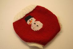 Holly Jolly Christmas Snowman Wool Diaper Cover by LagamorphLounge, $30.00