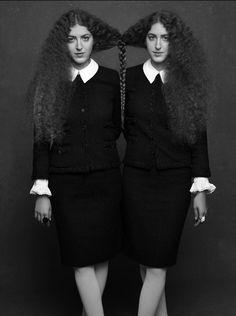 "Sama y Haya Abu Khadr por Karl Largerferld y Carine Roitfeld. ""The Little Black Jacket""  http://thelittleblackjacket.chanel.com/"