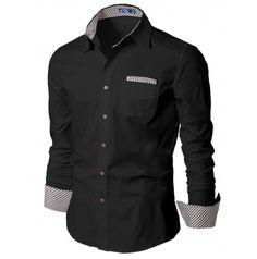 Mens Shirt Casual Dress Shirts with Tie (HAS:DOUBLJU)