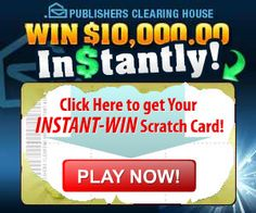Win $10,000 Instantly With Publishers Clearing House Instant Win Game on http://myfreestuff.co/win-10000-instantly-publishers-clearing-house-instant-win-game/