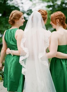 #veils  Photography: Brosnan Photographic - brosnanphotographic.com  Read More: http://www.stylemepretty.com/2014/03/17/irish-inspired-wedding-at-tir-na-nog-estate/