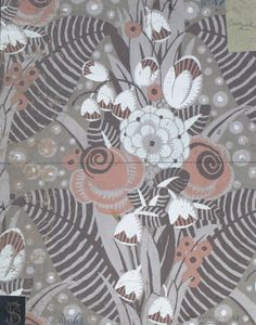 french gouache wallpaper design