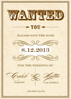 Save the Date Card - Gettin Hitched