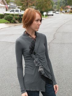 Scrunched sweater refashion