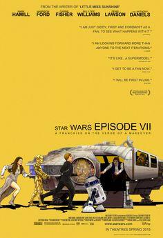 Star Wars Episode VII #starwars #poster #movie #mashup #little #miss #sunshine