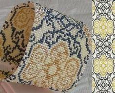 Loom Bead Pattern Gold Damask Cuff Bracelet by BeadholdenDesigns