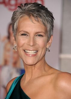If you ever thought short gray hair was too masculine, just look at how sexy Jamie Lee Curtis makes it look. Her adorable pixie shows off her salt-and-pepper hair color and fine bone structure. She's gorgeous!More Hairstyles for Older Women:Short Haircuts Over 50Bob Hairstyles Over 4010 ...