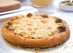 Pizza Dough, Pesto & 3 cheese pizza
