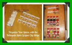 Organize Your Spices Easily, with the Bellemain Spice Gripper Clip Strips!