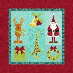 July 2014 - Christmas BOM Wall Quilt
