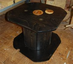 recycled cable reel 500 Transform recycled cable reel to a living room table in wood diy  with Recycled