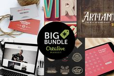 Tons of Photoshop Actions, Brushes, Fonts, Mock-ups and Responsive Wordpress Themes. Over a $1,680 value – Only $39! Design Bundle by Creative Market